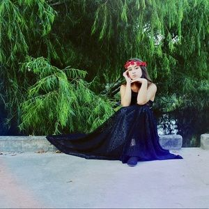 Blank Lace Formal Maxi Dress